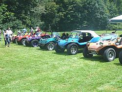 Dune Buggies lined up